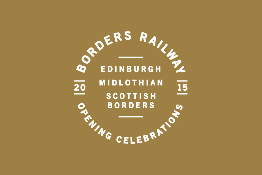 Branding for Borders Railway Opening Celebration by Glasgow based graphic design studio KVGD