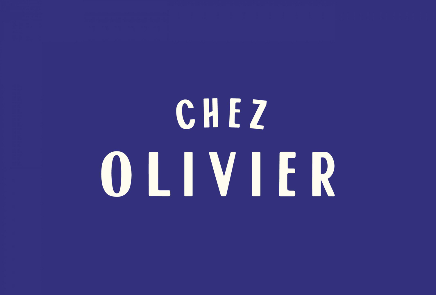 Logo, menus and business cards designed by Swear Words for Melbourne-based French bistro Chez Olivier.