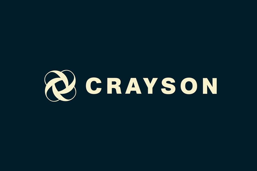 Logotype created by Beam for Crayson, a luxury estate agent serving the Notting Hill district of London