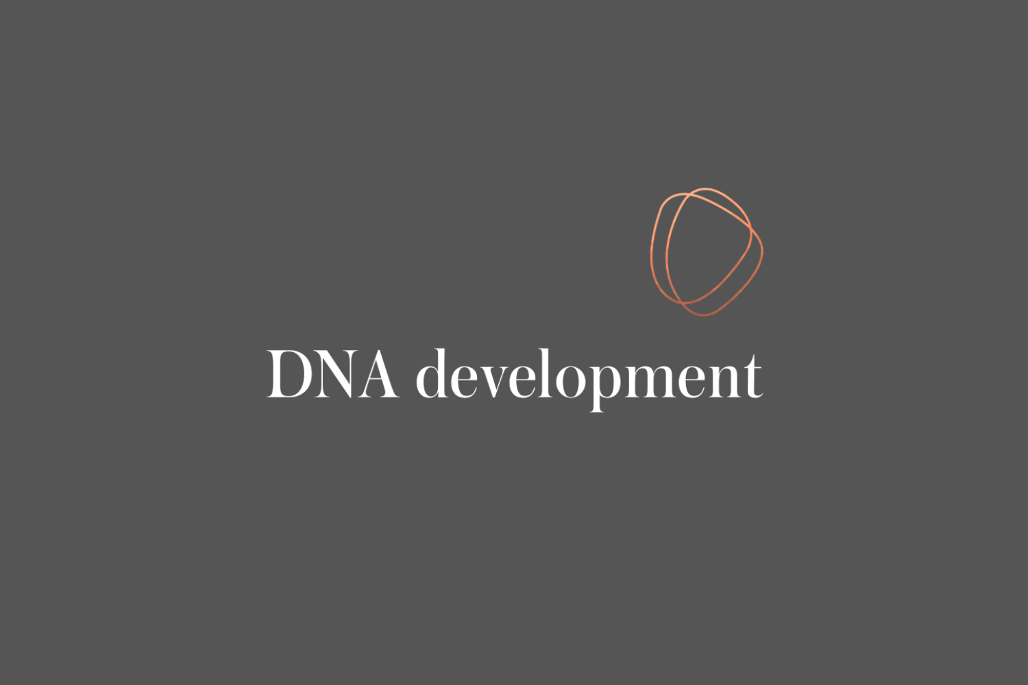 Logo and logotype for real estate investment and development business DNA development by Face