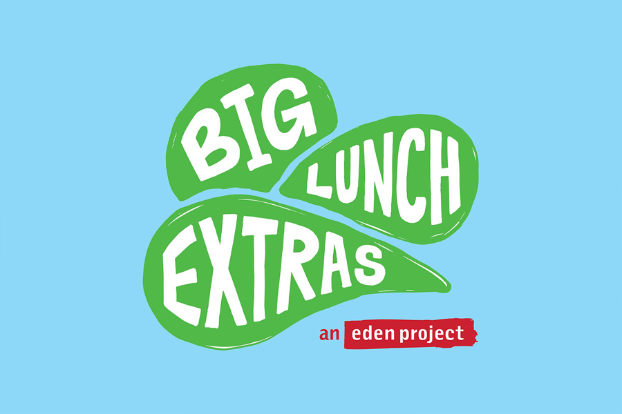 Logo designed by Believe In for Eden Project's Big Lunch Extras