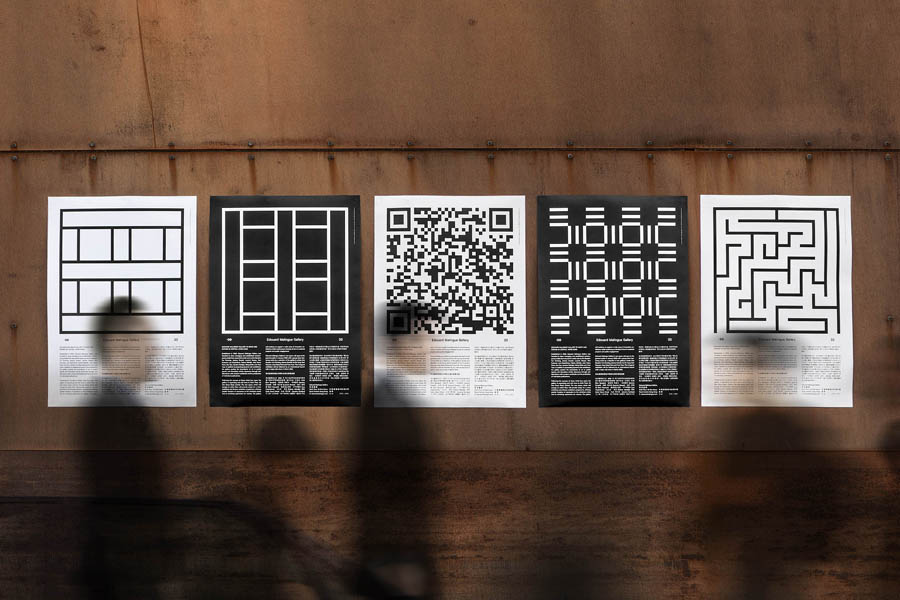 Posters for Edouard Malingue Gallery by graphic design studio Lundgren+Lindqvist