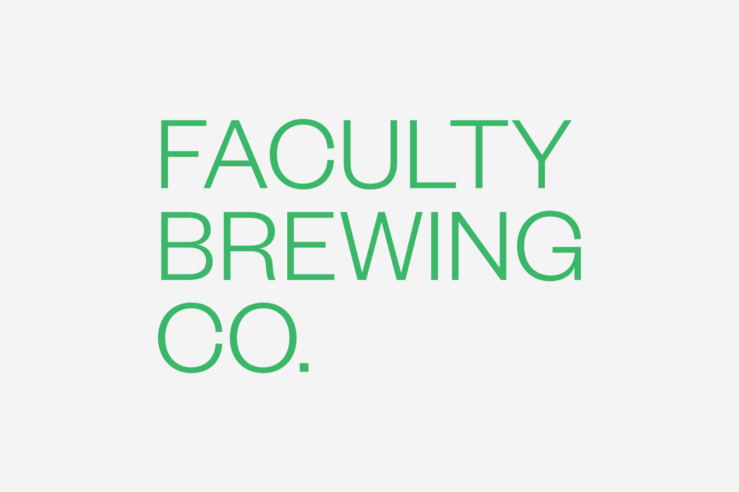 Logotype by Canadian graphic design studio Post Projects for Faculty Brewing Co.