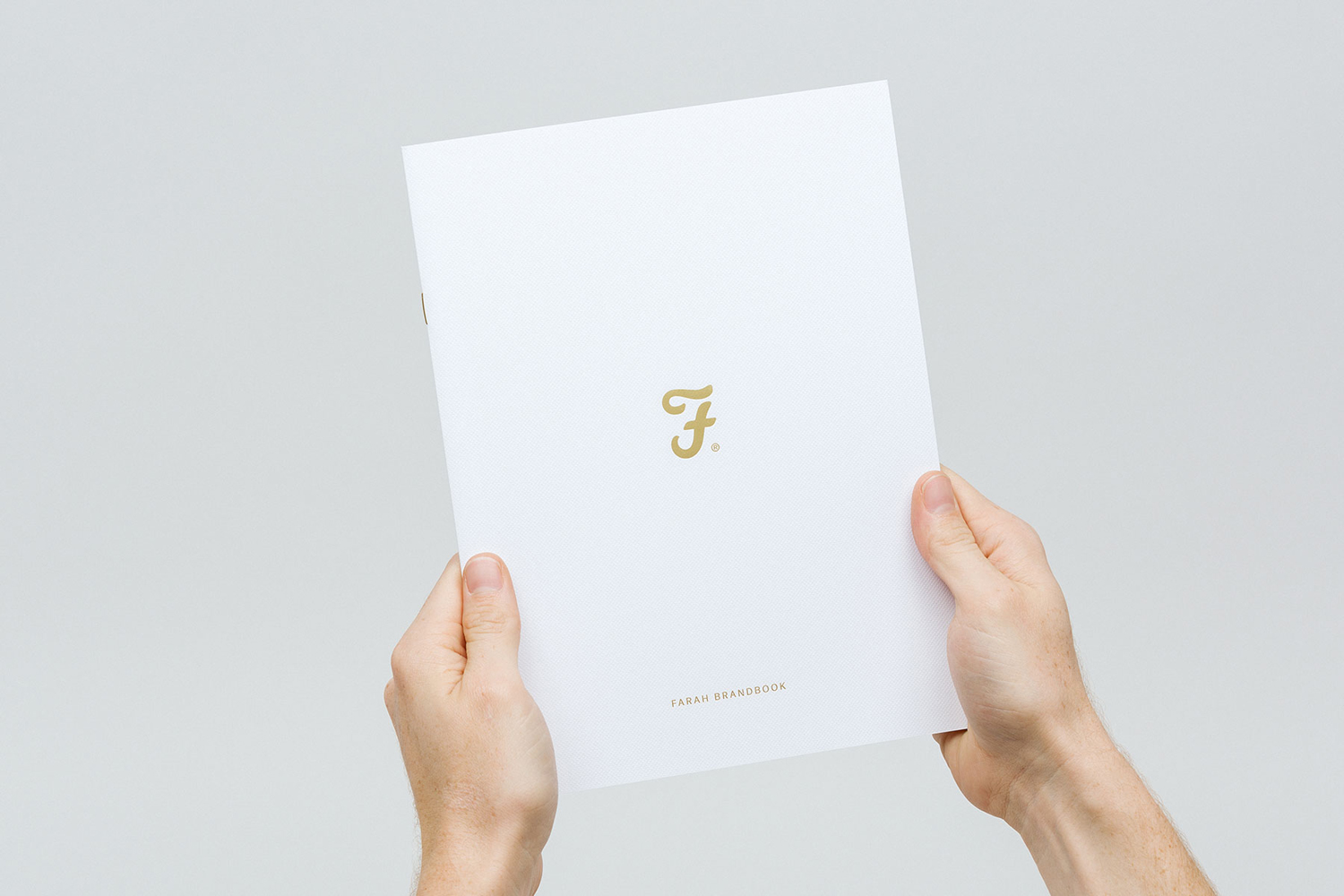 Brand identity and brand book for British men's fashion label Farah by graphic design studio Post