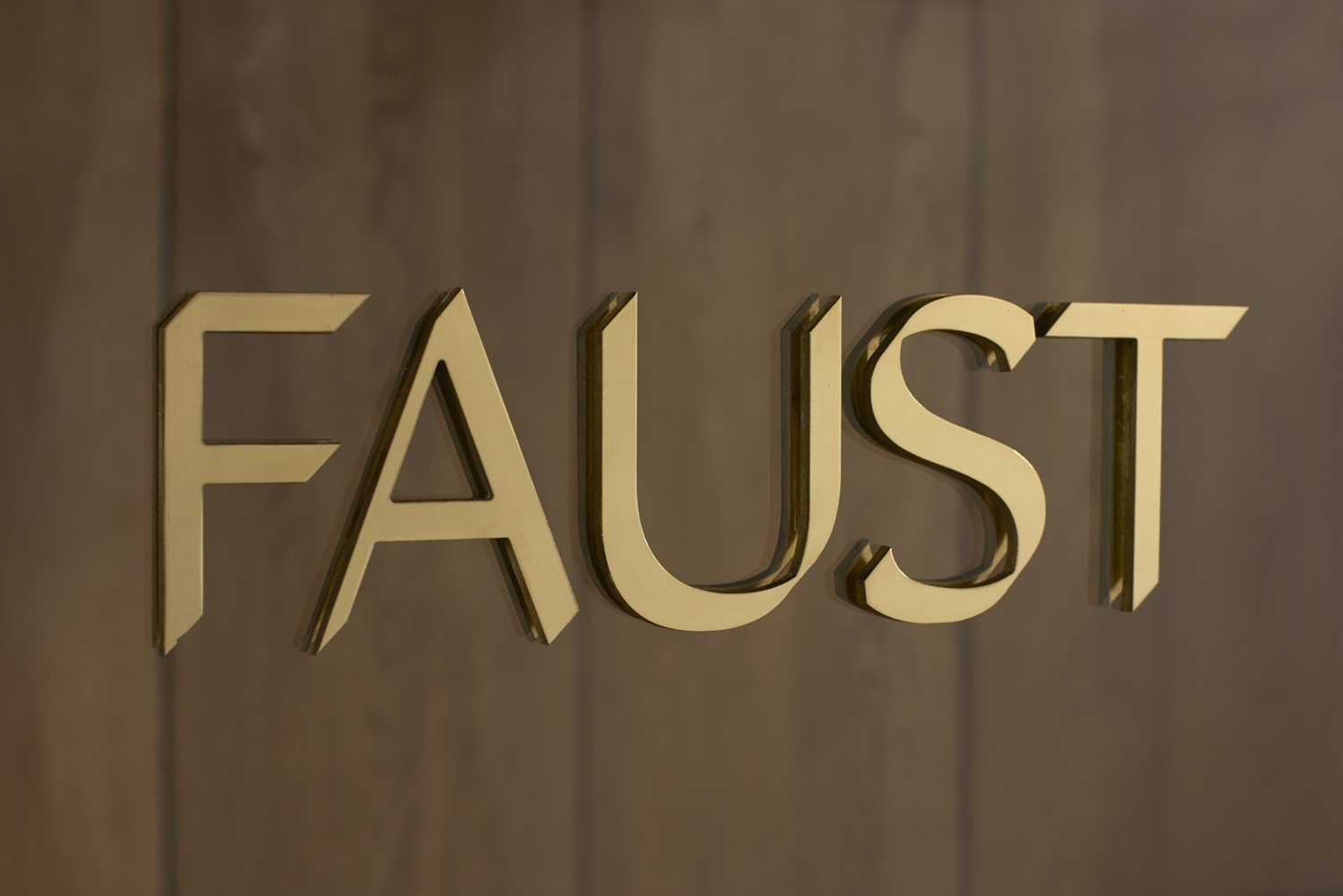 Logotype, typography, stationery and interior design by Snøhetta for Oslo-based high-end shoemaker Faust