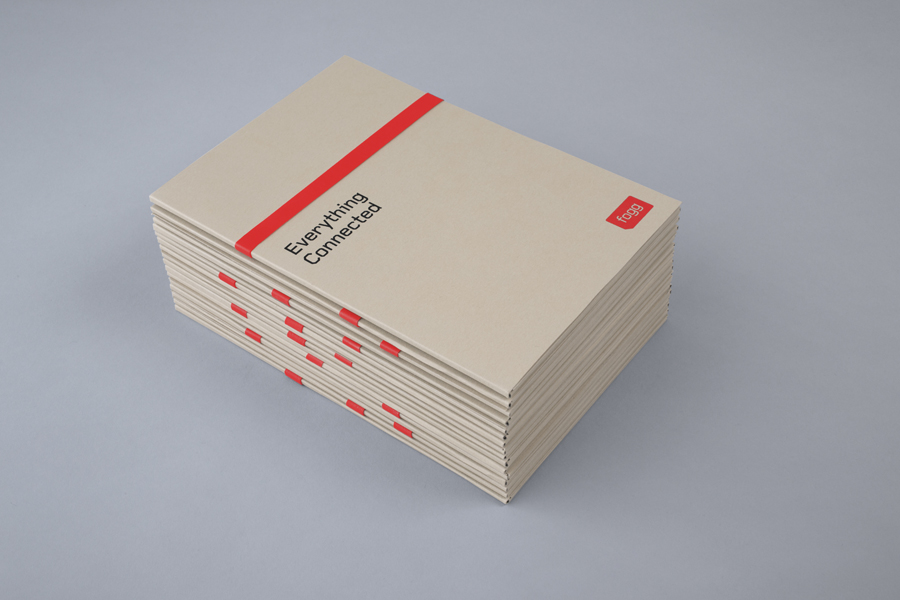 Brochure with unbleached uncoated cover for Fogg designed by Bunch