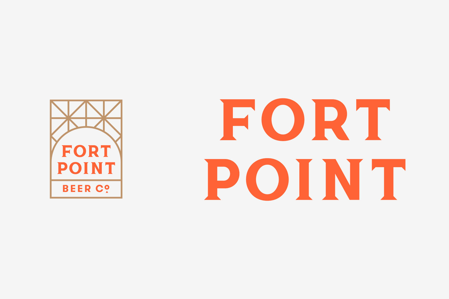 Brand identity for Fort Point Beer Co. by San Francisco based graphic design studio Manual
