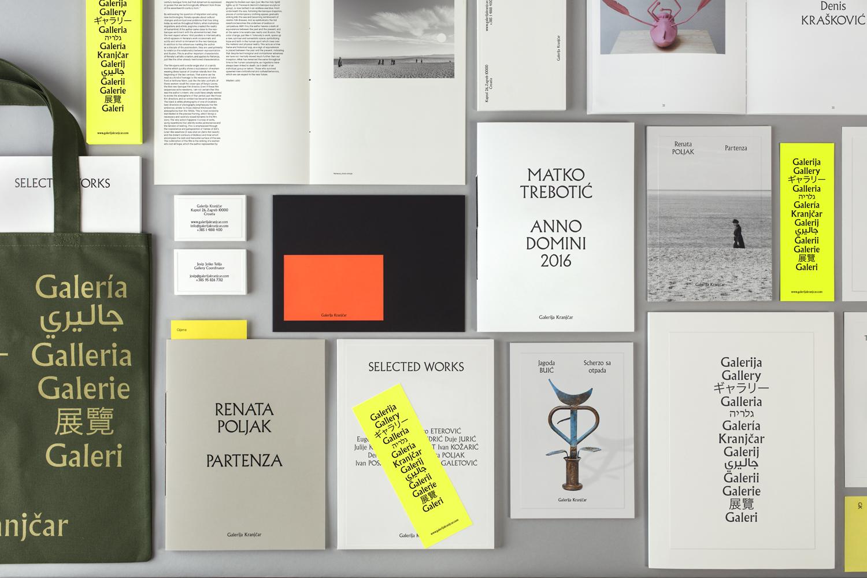 Brand identity and print designed by Bunch for Zagreb-based modern art gallery Galerija Kranjčar.
