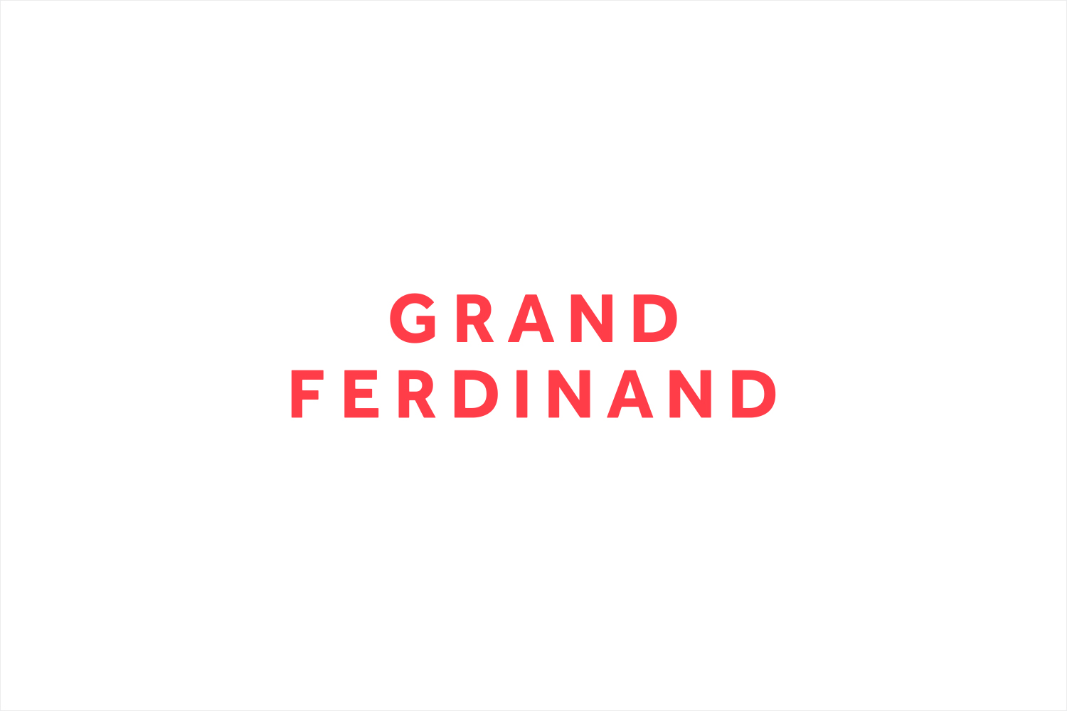 Sans-serif logotype for Vienna's Grand Ferdinand hotel by Austrian graphic design studio Moodley