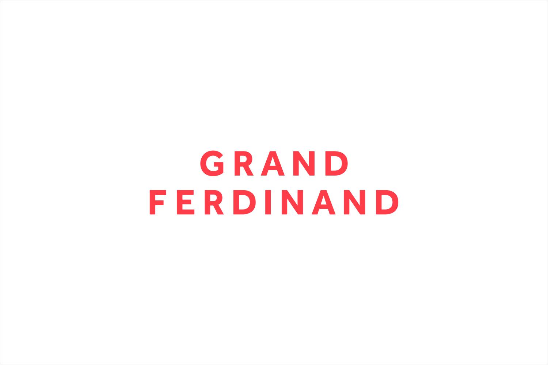 Sans-serif logotype for Vienna's Grand Ferdinand hotel by Austrian graphic design studio Moodley