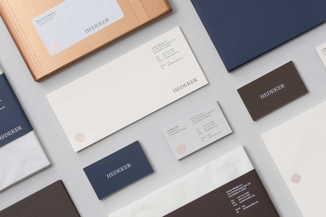 Branding for Illinois based Hedeker Wealth & Law by Socio Design