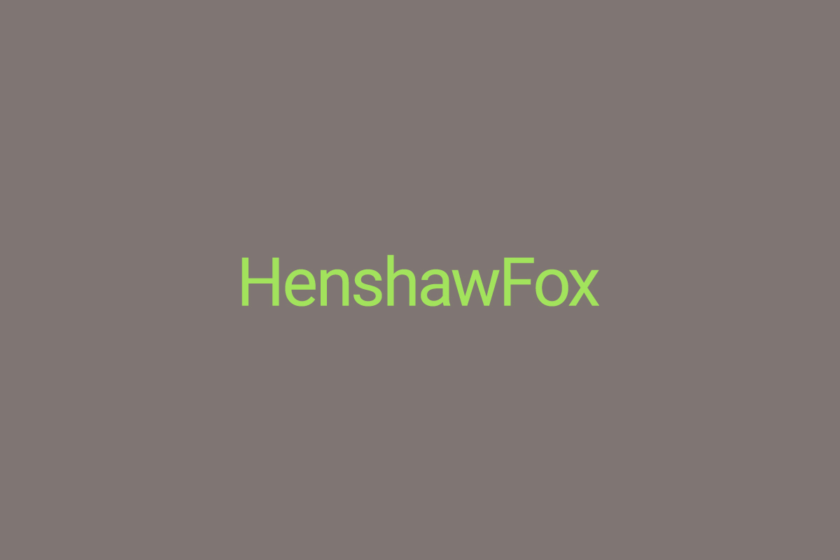 Logotype by graphic design studio Parent for Romsey estate agent HenshawFox.