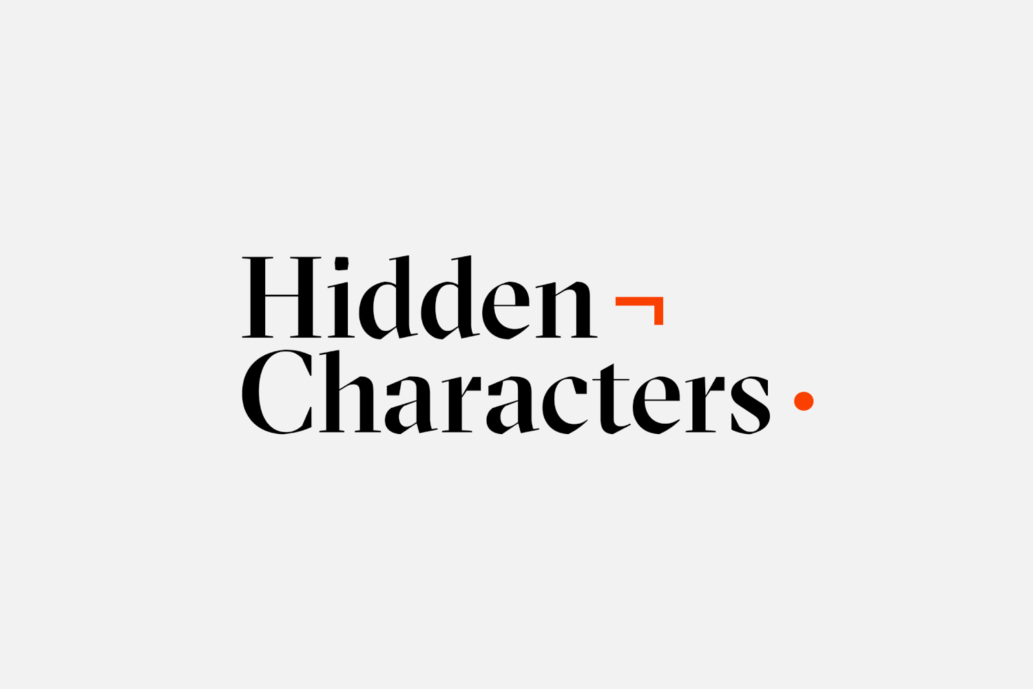 Logotype for Sydney-based PR firm Hidden Characters by RE, Australia