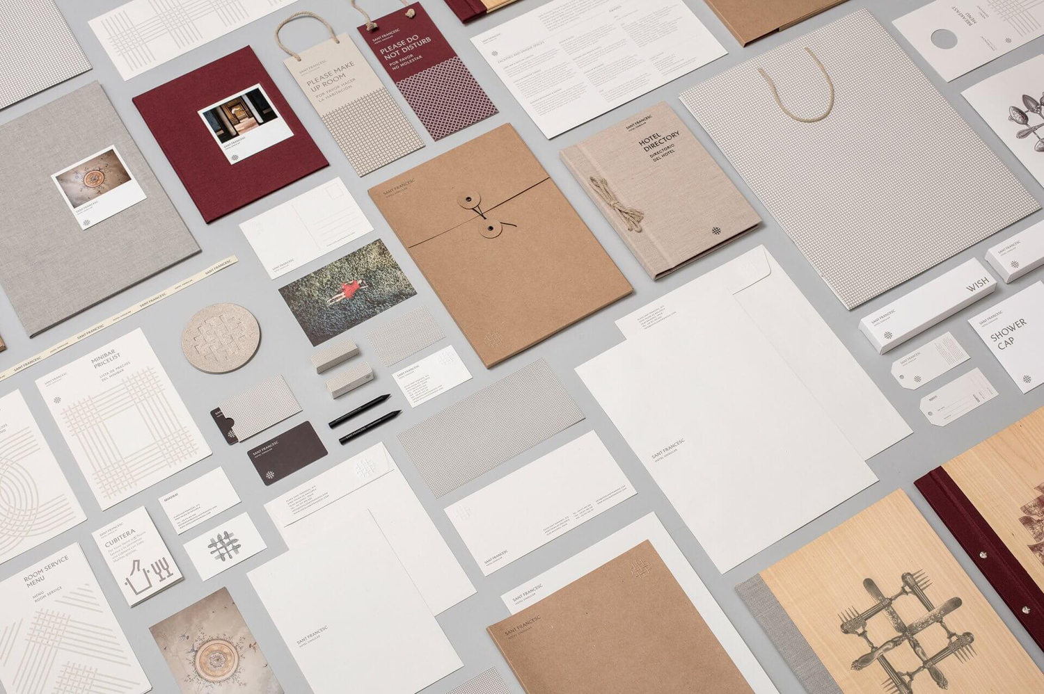 Brand identity and print by Mucho for Spanish 5-star hotel Sant Francesc.
