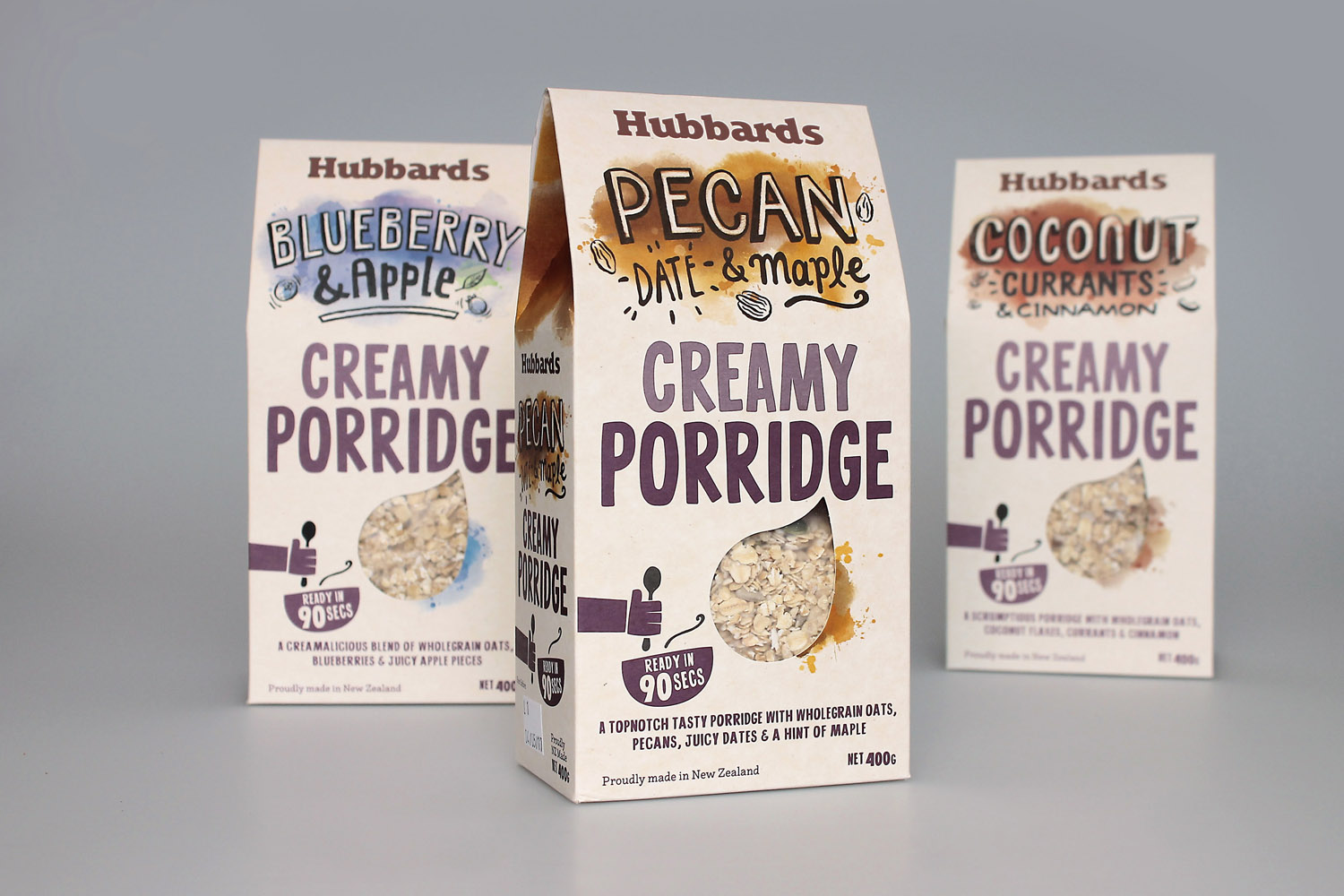 New packaging for Hubbards Porridge designed by Coats, New Zealand