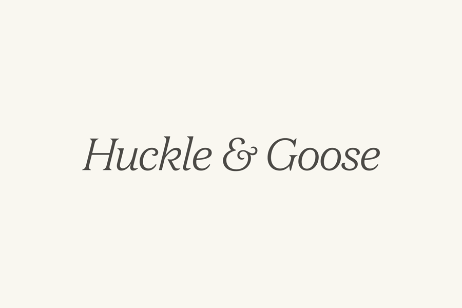Logotype design by Cast Iron for seasonal meal advisor Huckle & Goose