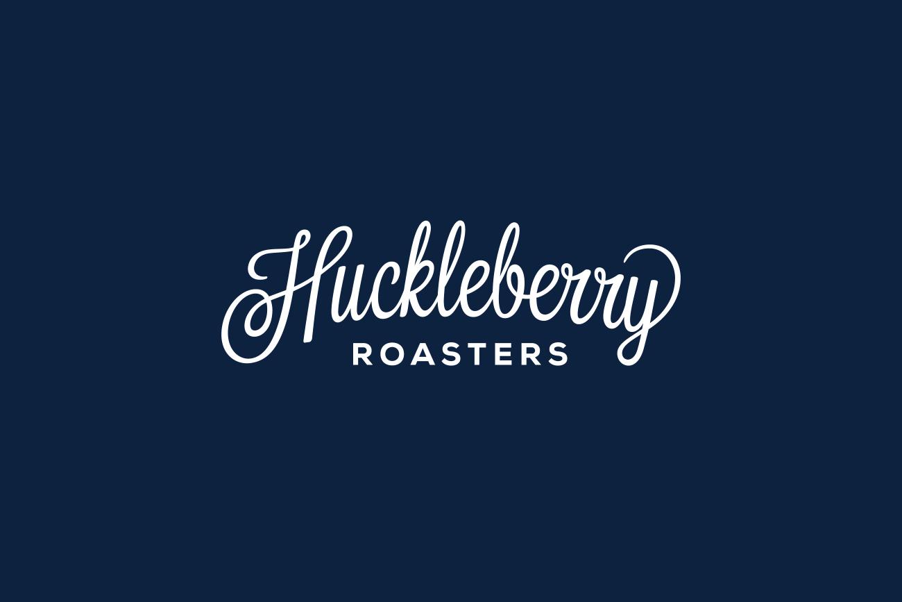 Hand drawn script logotype for Colorado coffee roaster Huckleberry by Mackey Saturday