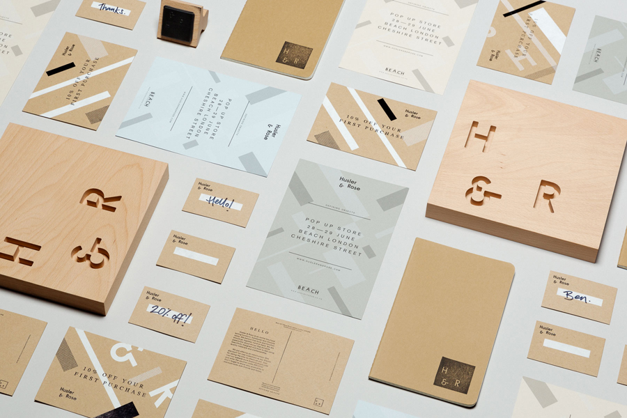 Visual identity for Husler & Rose designed by Post