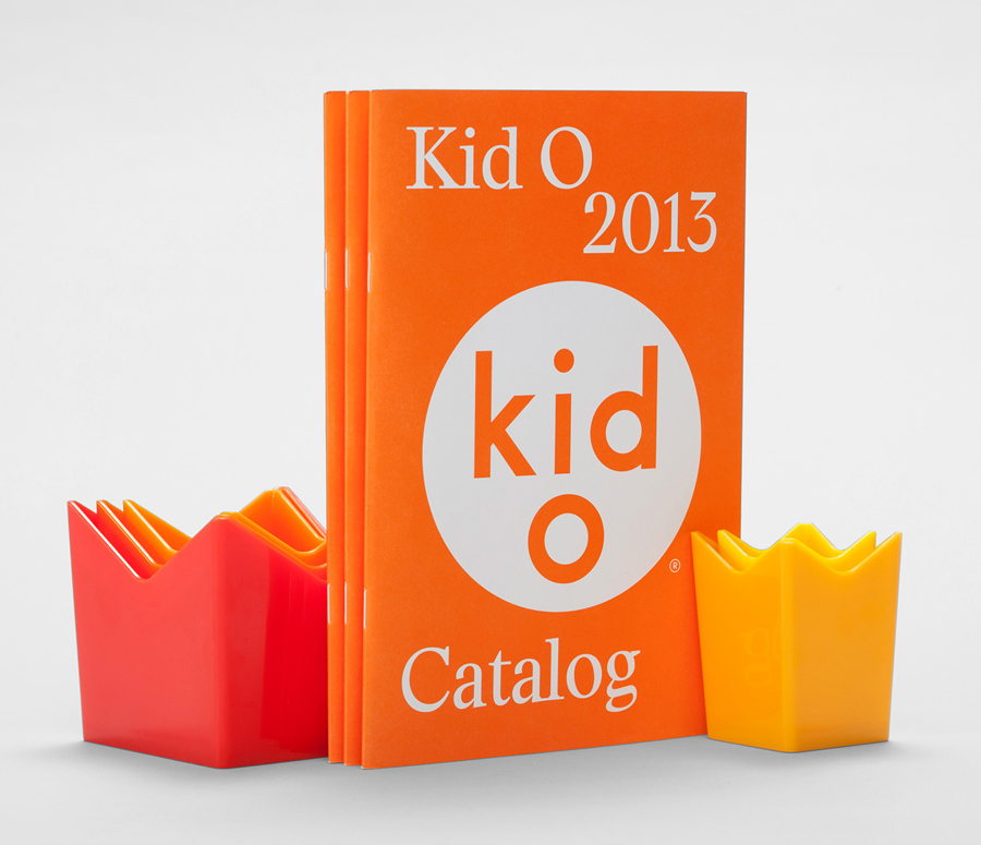 Catalogue for modern toy business Kid O designed by Studio Lin