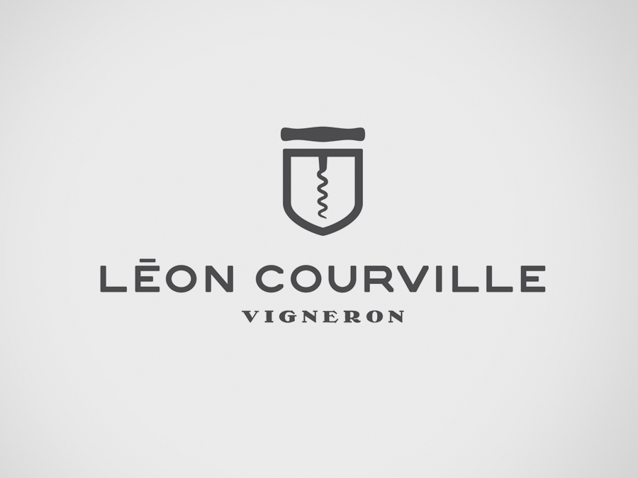 Logo for wine producer Léon Courville Vigneron by lg2 boutique