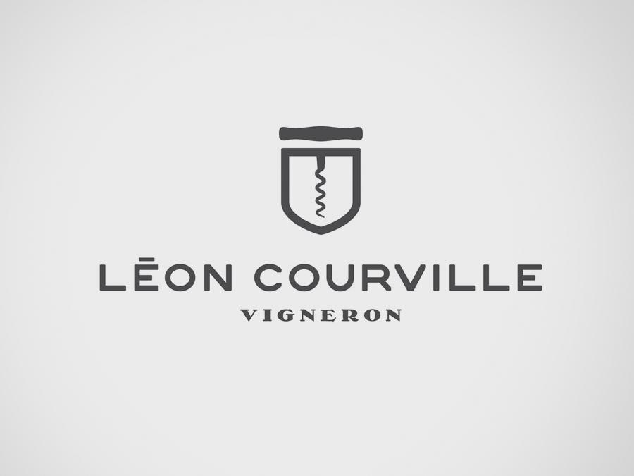 Logo for wine producer Léon Courville Vigneron by lg2 boutique