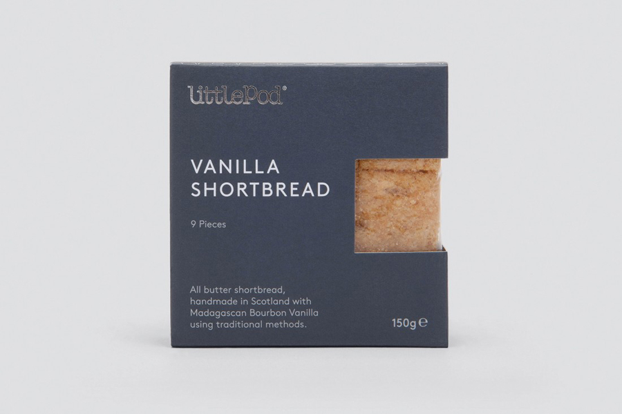Package design by Believe In for LittlePod's traditionally made vanilla shortbread