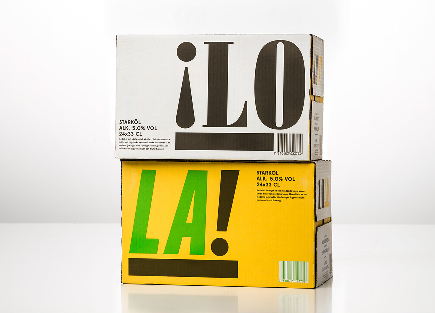 Brand identity and packaging for craft beer ¡Lo La! designed by Neumeister