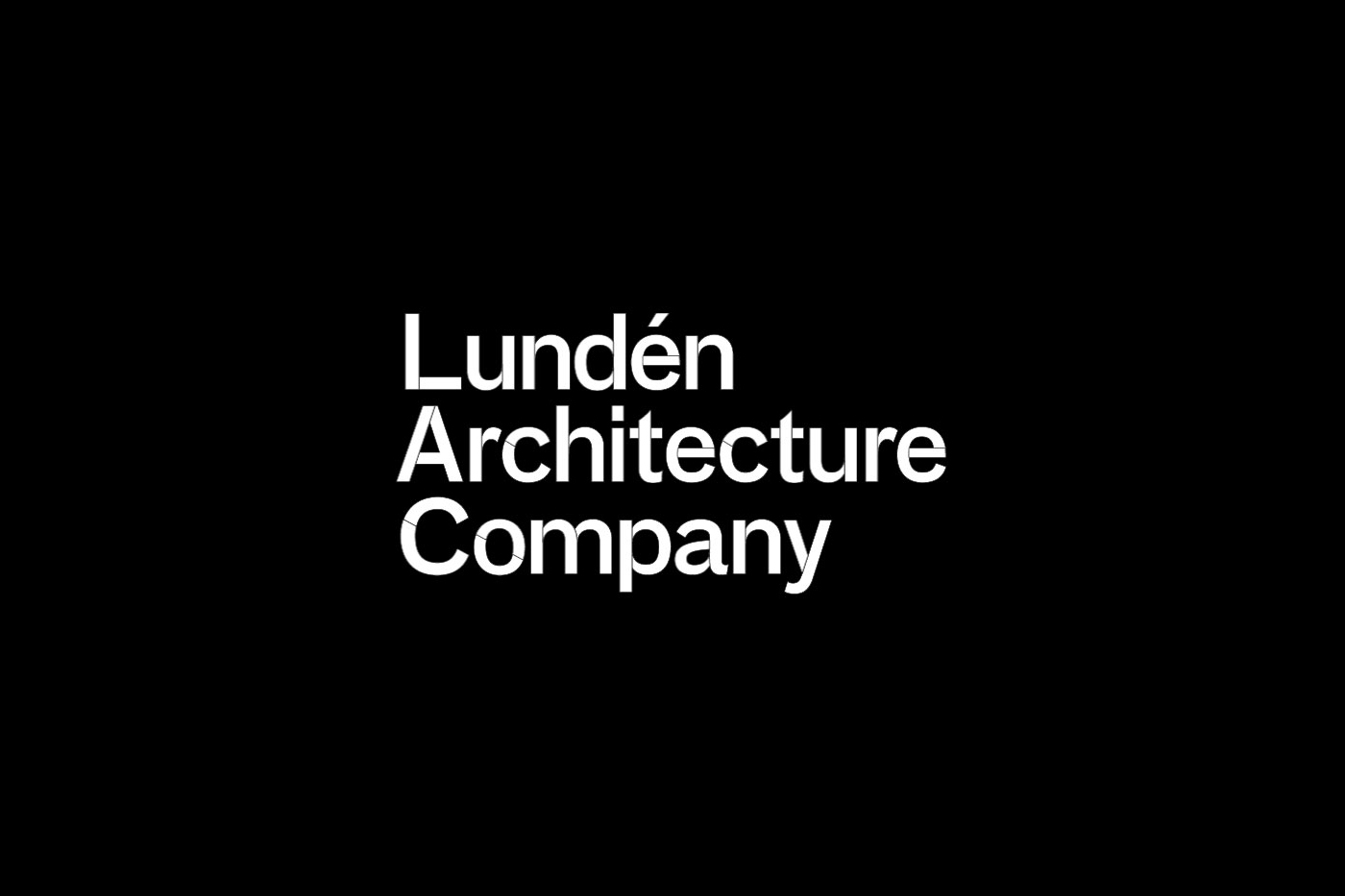 Logotype by Finnish design studio Tsto for Helsinki-based Lundén Architecture Company