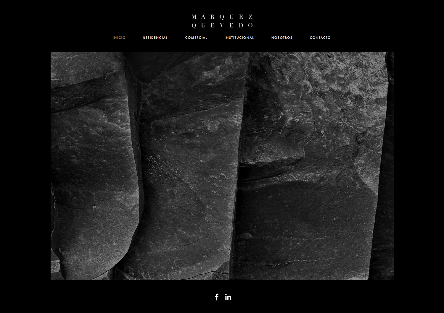 Brand identity and website for Mexican architectural studio Marquez Quevedo by La Tortillería