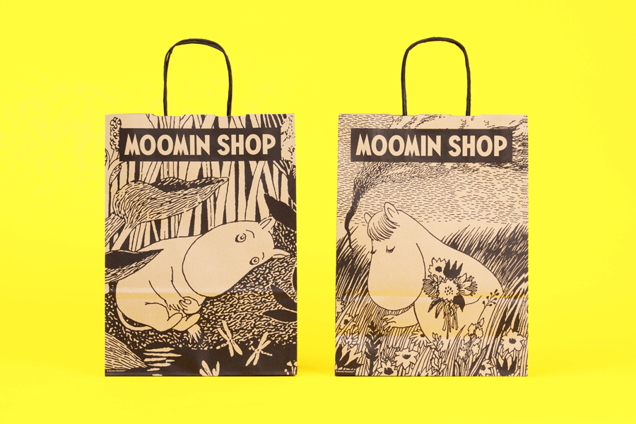 Packaging for Moomin Shop by graphic design studio Bond, Finland