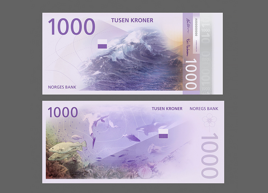 Norway's New Banknotes by The Metric System & Snøhetta designed in Oslo, Norway