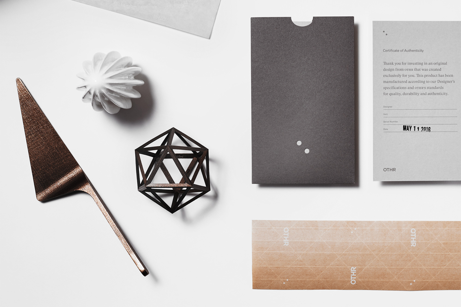 Branding by New York-based design studio Franklyn for innovative product design company OTHR