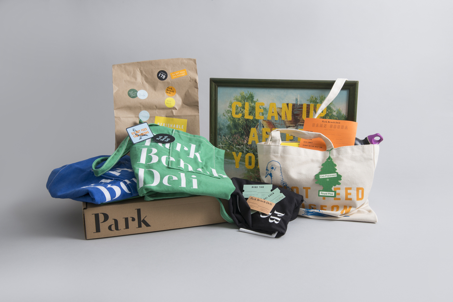 Brand identity, print and packaging by Foreign Policy for Singapore's Park Bench Deli