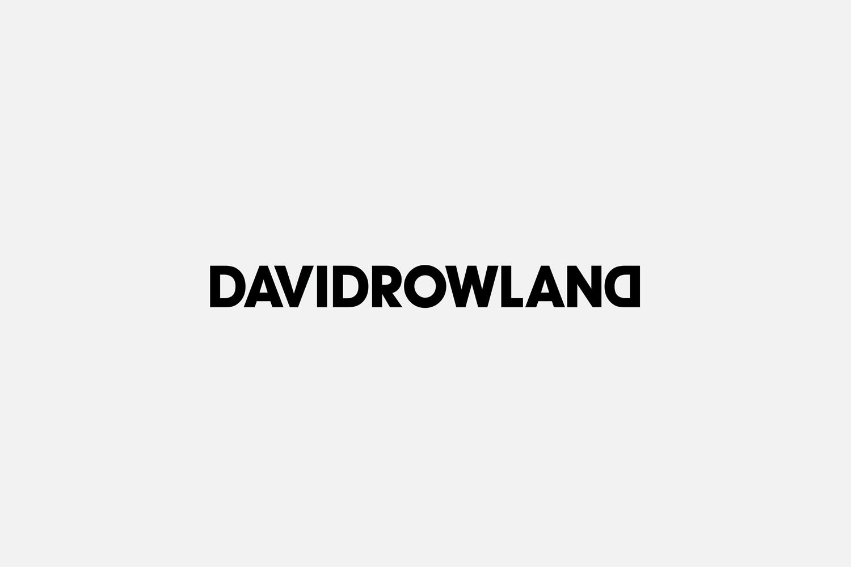 Logotype by London-based graphic design studio ico Design for photographer David Rowland