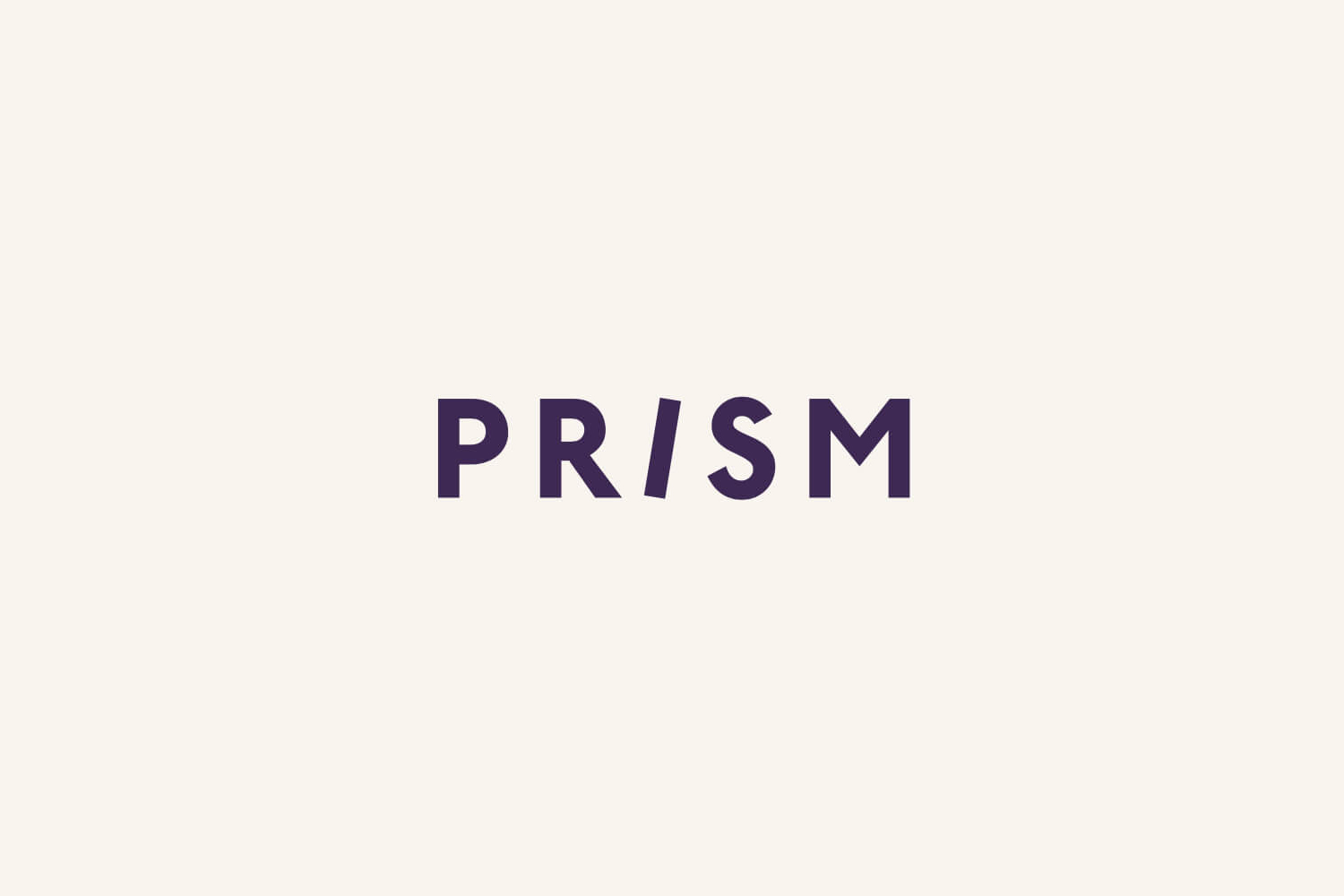 Logotype for American laminate brand Prism by Atlanta based graphic design studio Matchstic