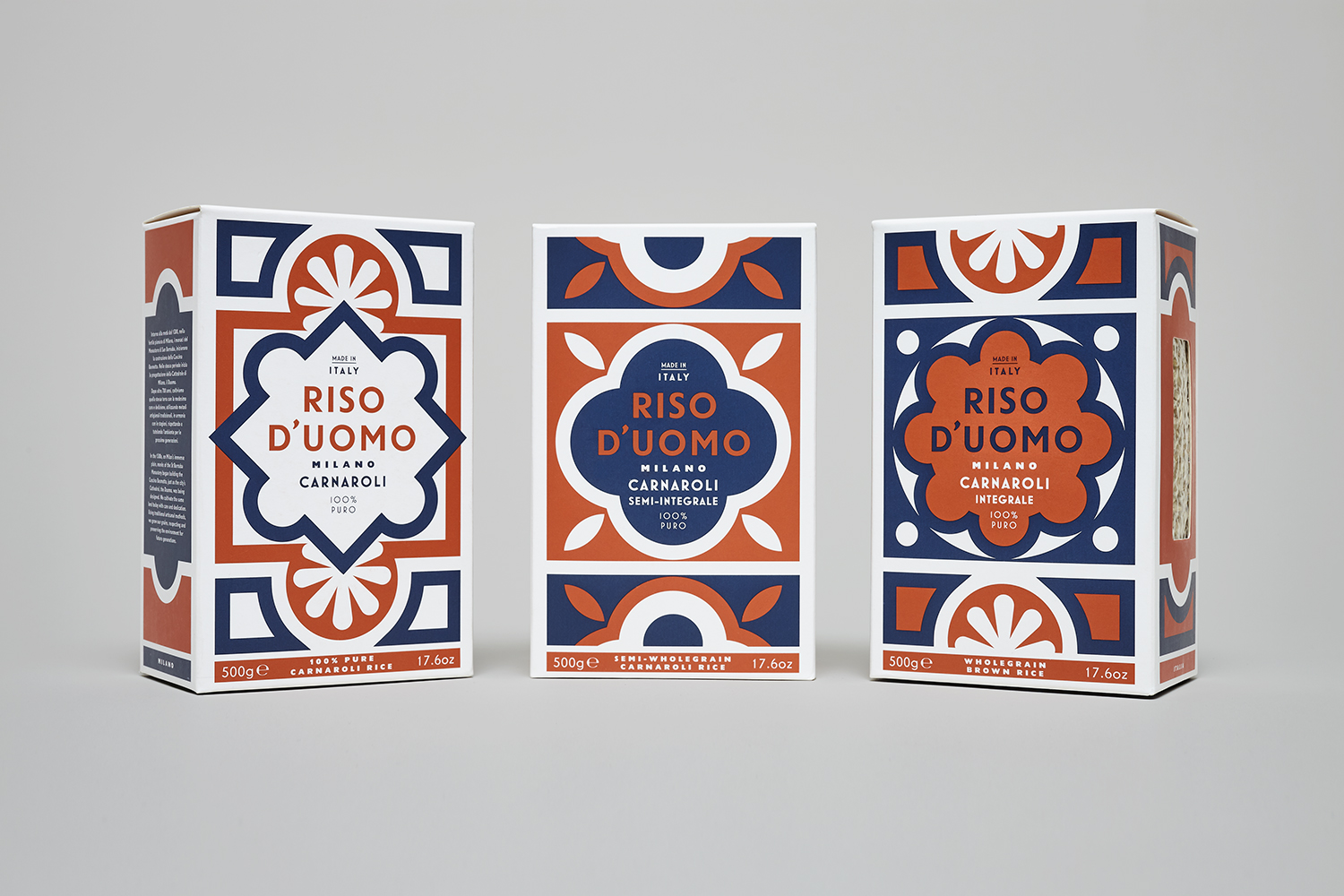 Mostra Design Milano 2018 new packaging for riso d'uomo by here design — bp&o