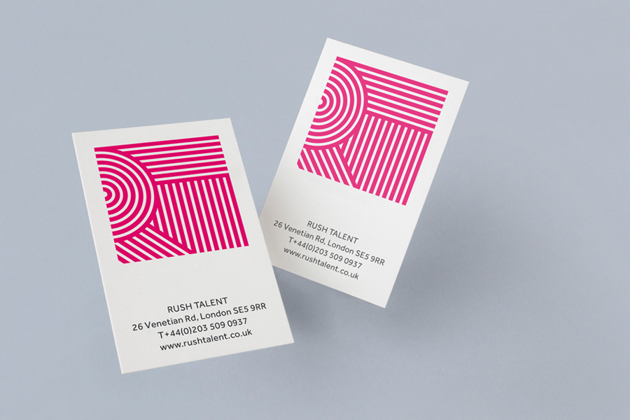 Business card design for Rush Talent by Bunch