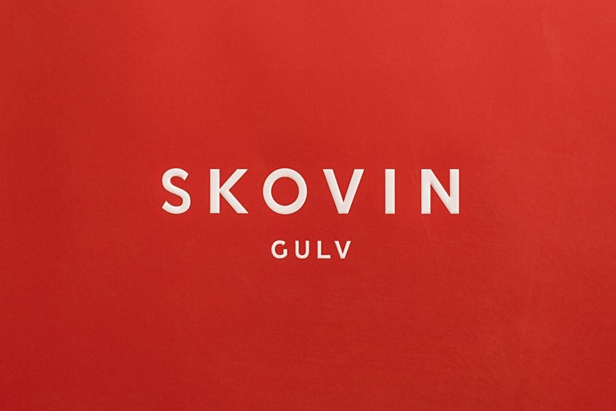 Logotype designed by Heydays for Norwegian high-end wood flooring specialist Skovin
