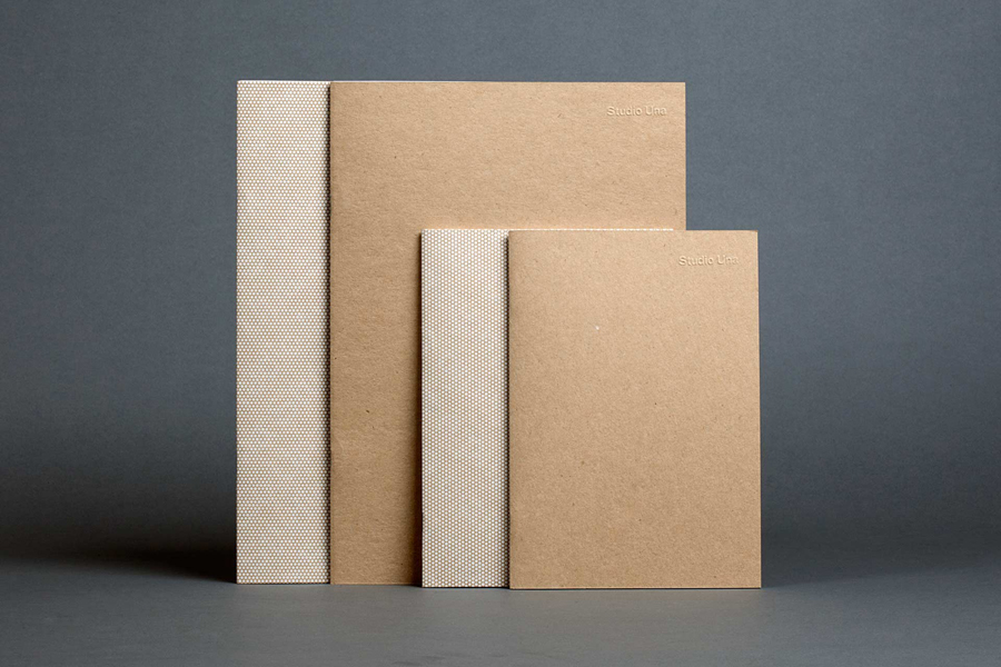 Branded notebooks for German graphic design business Studio Una