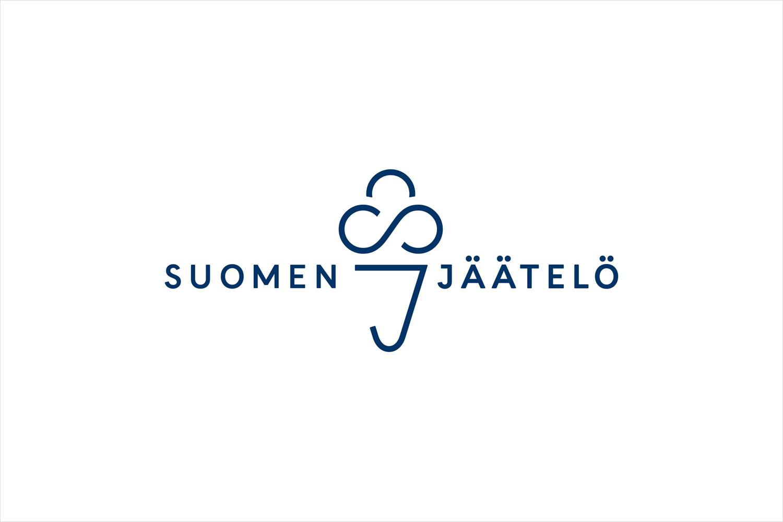 Logo design by Helsinki-based Werklig for Finnish ice cream brand Suomen Jäätelö