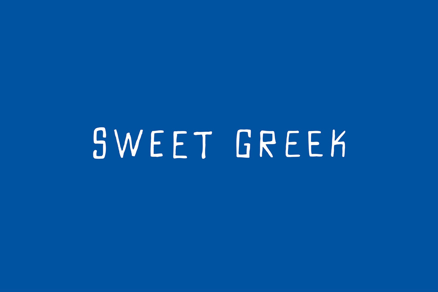 Logotype for Melbourne food store Sweet Greek designed by Studio Bravo