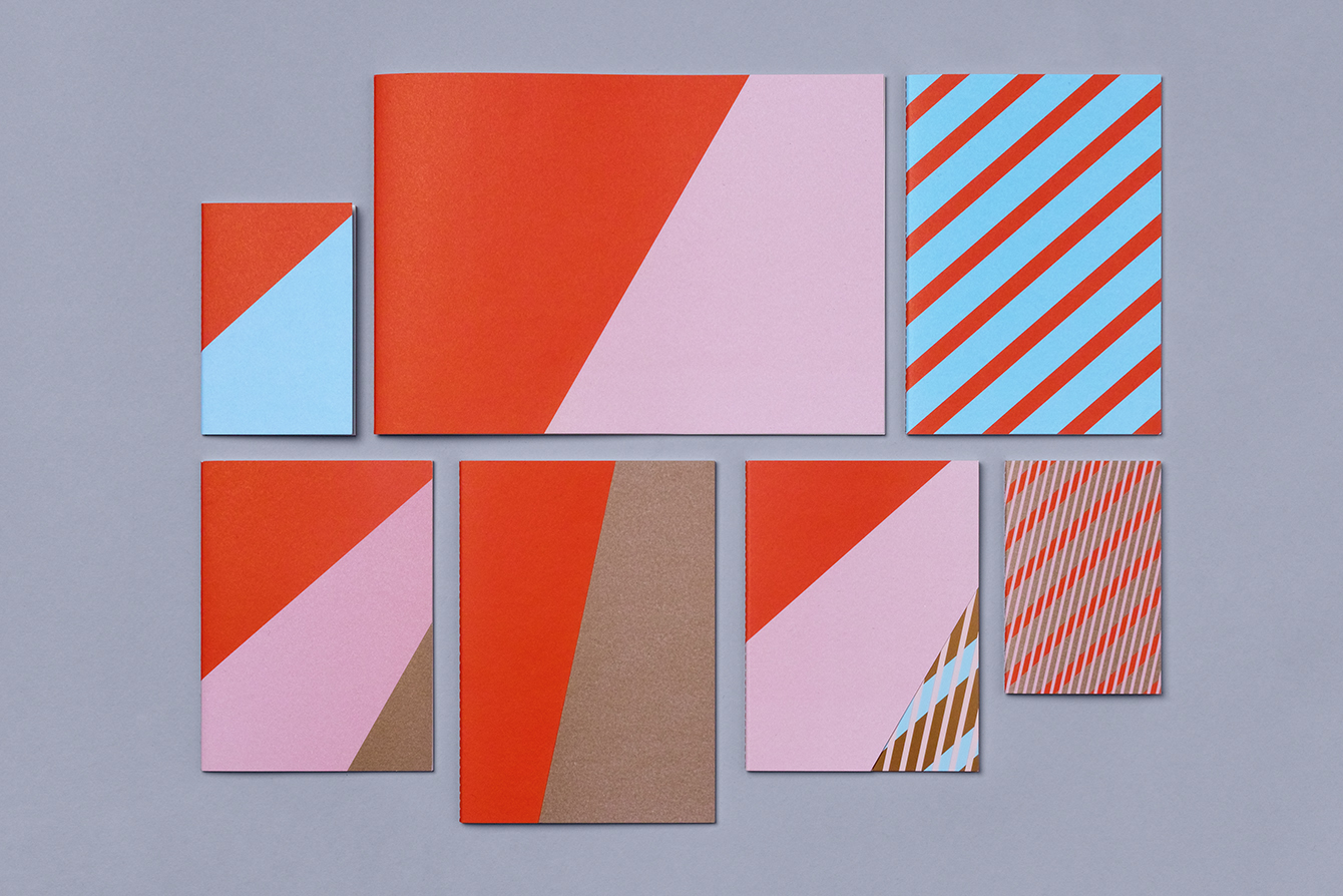 Visual identity and notepads and notebooks for South Korean network tvN designed by Studio fnt.
