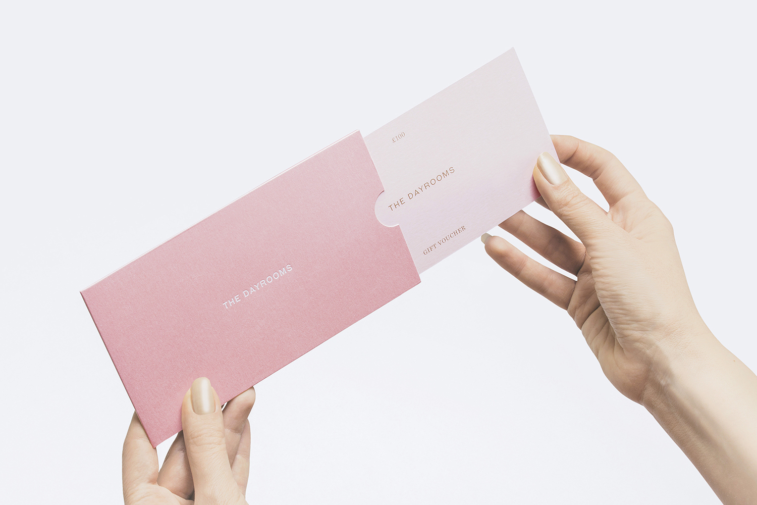Gift card and sleeve designed by Two Times Elliott for Australian fashion boutique in London The Dayrooms