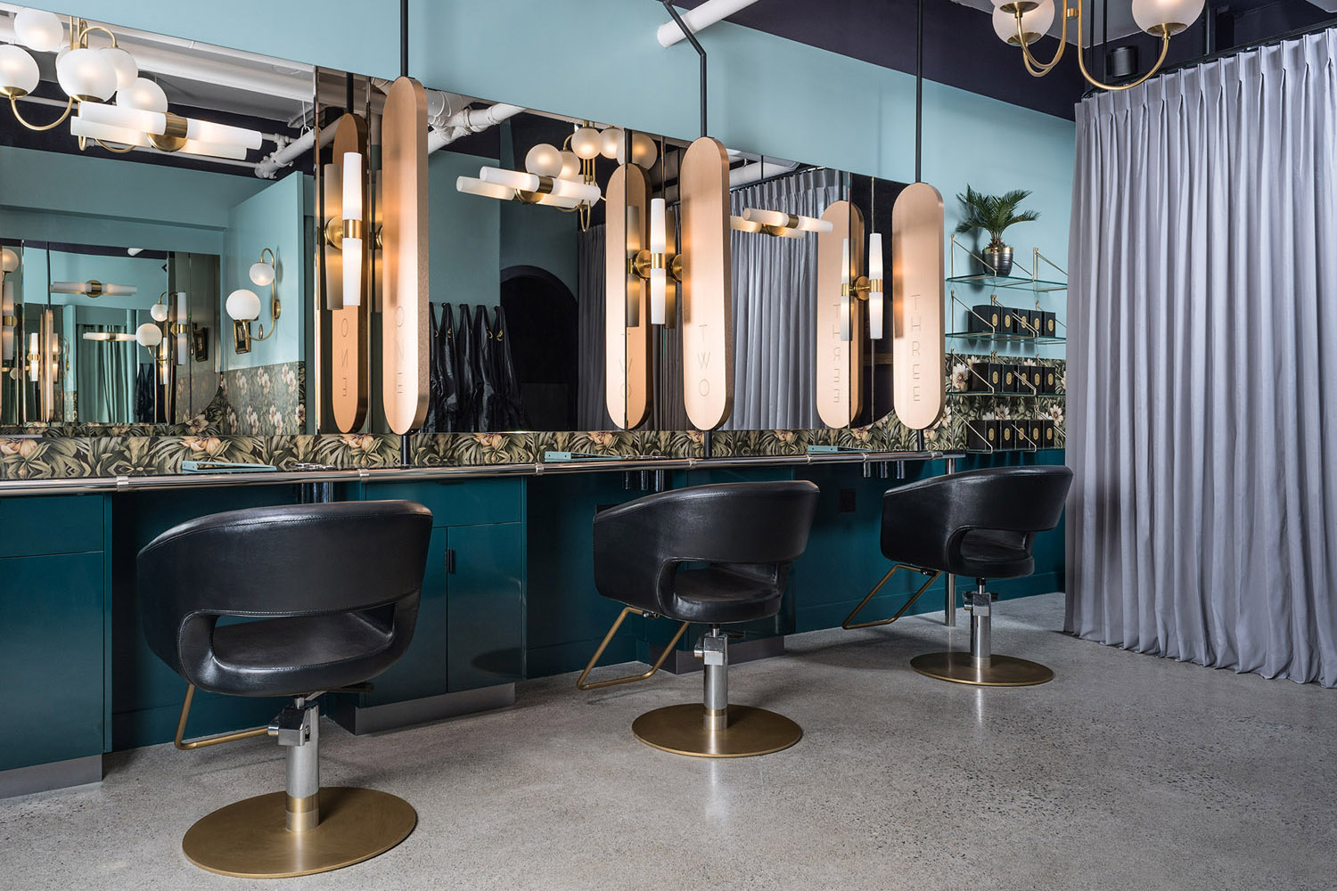 Interior of Vancouver-based luxury salon The Glamoury.