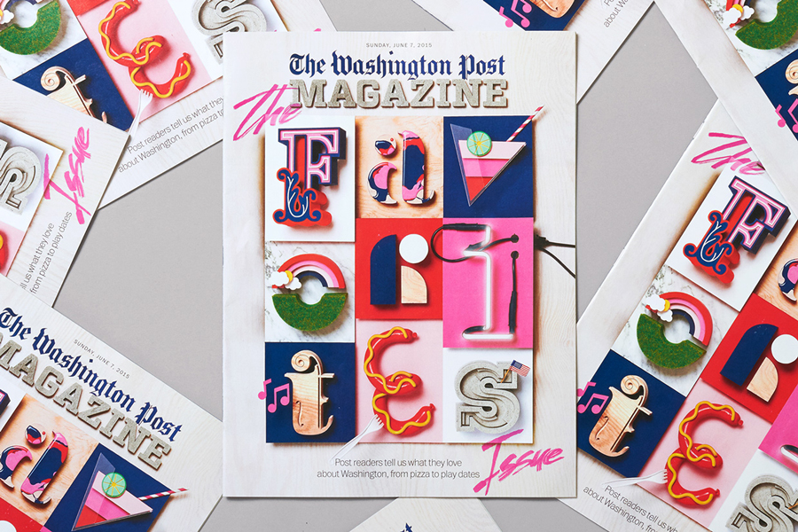Graphic design by Snask for The Washington Post Magazine's The Favourites List