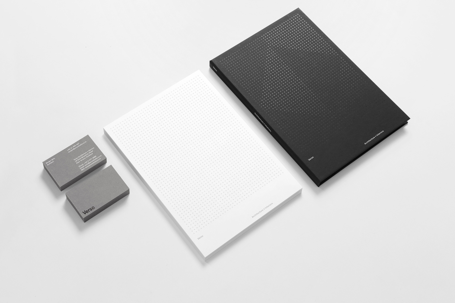 Stationery, business cards and notepads by Studio South for Auckland-based architecture and interior business Verso