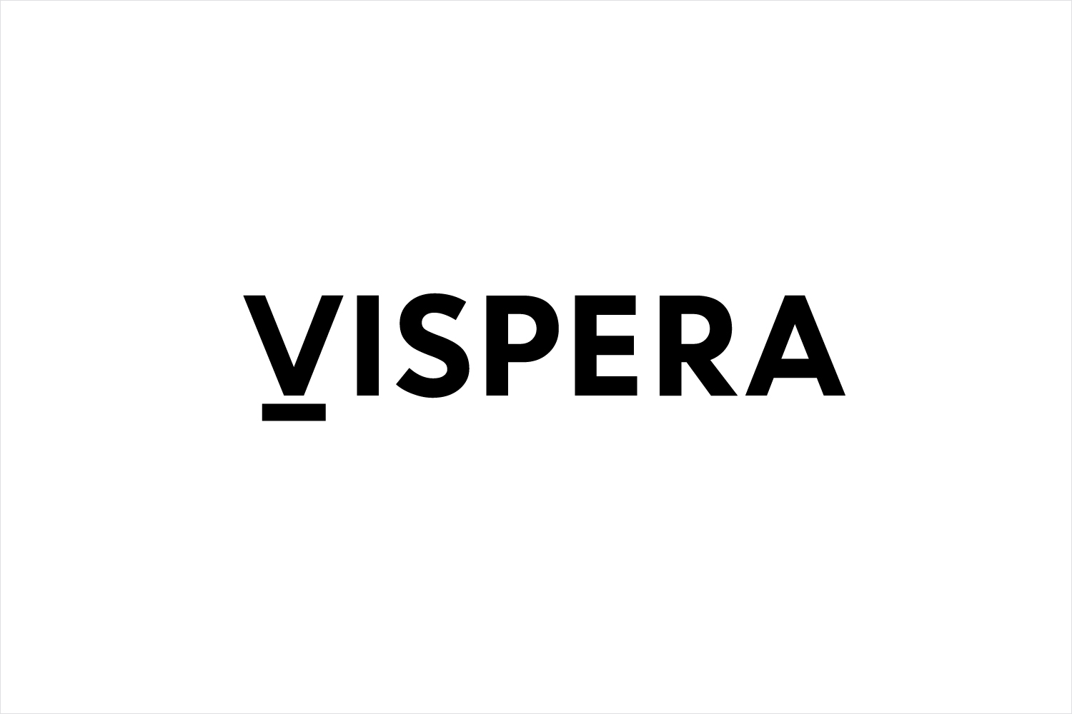 Logotype created by Stockholm Design Lab for Víspera Coffee, a range of 100% Arabica beans sourced from the high altitude plantations of Columbia.