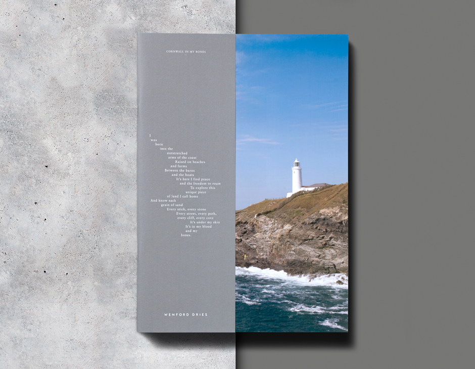 Branding and lifestyle magazine for North Cornwall property development Wenford Dries by London based graphic design studio ico.