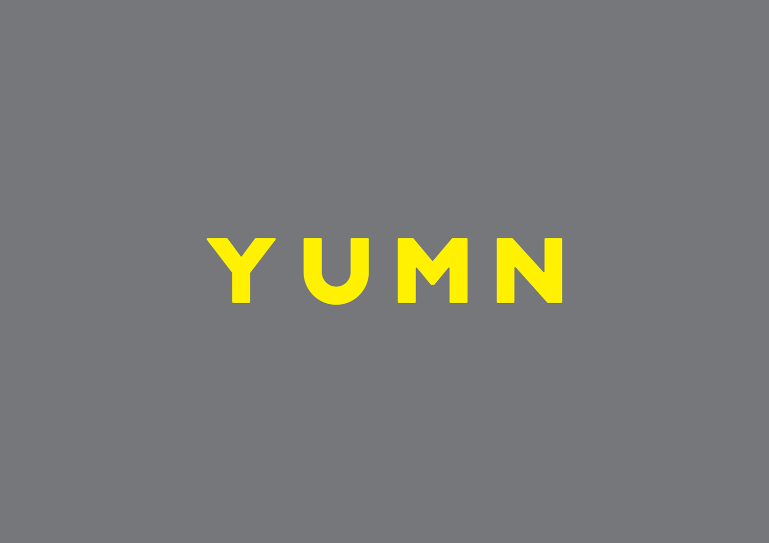 Logo design by Brighton-based Filthymedia for Boxpark Croydon's casual luxury restaurant Yumn