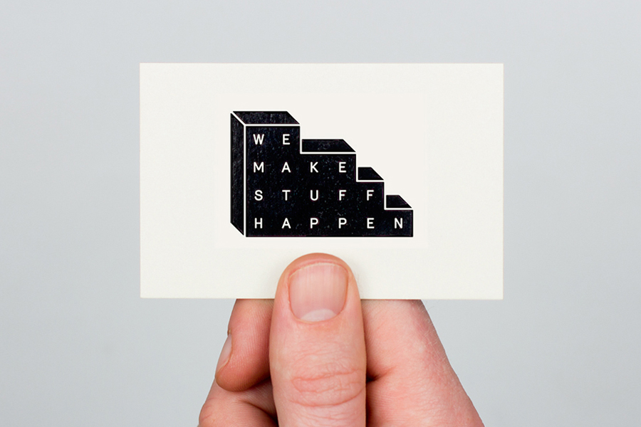 Black foil business card design for event planner We Make Stuff Happen by Maddison Graphic